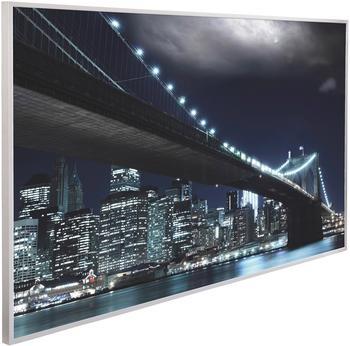 Papermoon Infrarotwandheizgerät Brooklyn Brücke, EcoHeat , Aluminium, 600 W, 100x60 cm bunt