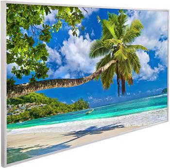 Papermoon Infrarotwandheizgerät Palmen Strand, EcoHeat , Aluminium, 600 W, 100x60 cm bunt