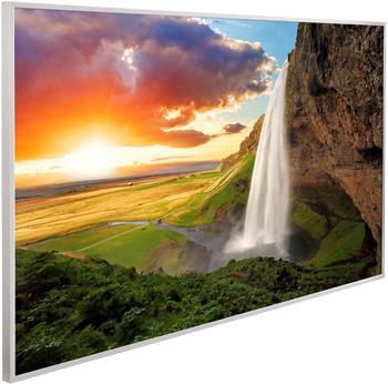 Papermoon Infrarotwandheizgerät Wasserfall Island, Aluminium, 600 W, 100x60 cm bunt