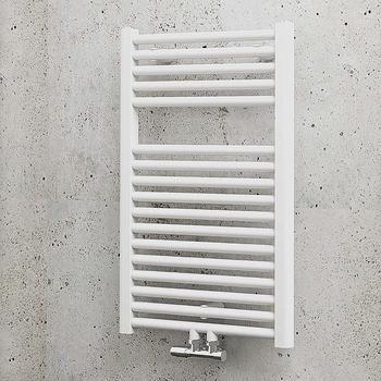 Schulte Badheizkörper München mit Mittenschluss 77,5 x 50 cm, weiß, 451 Watt