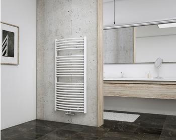 Schulte Badheizkörper München Rund mit Mittenschluss 121,5 x 60 cm, weiß,