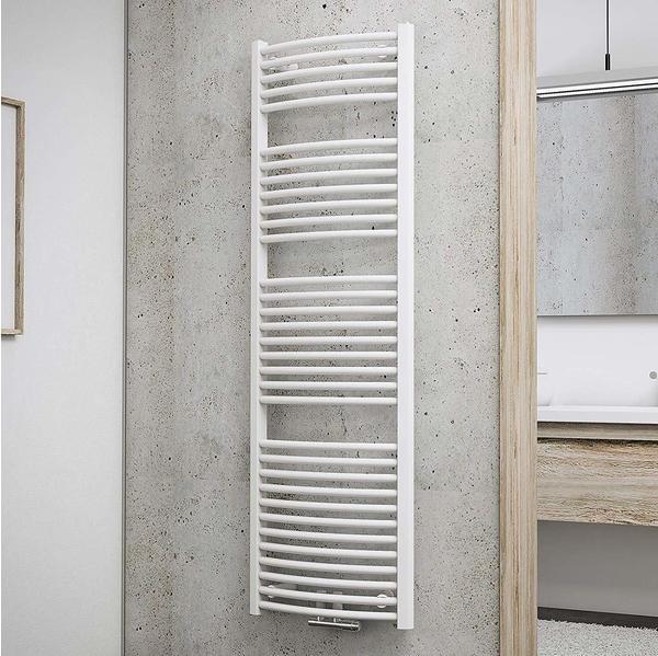 Schulte Badheizkörper München Rund mit Mittenschluss 157,5 x 50 cm, weiß, 776 Watt