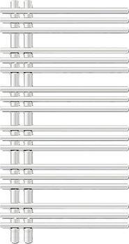 Zehnder Yucca YAC (HxB: 1.304 x 378 mm)