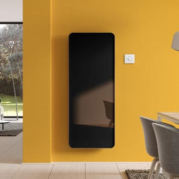 Kermi Elveo H: 150 B: 60 cm mit Elektro-Set WFS schwarz/aluminium