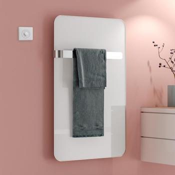 Kermi Elveo H: 100 B: 60 cm mit Elektro-Set WKS/Handtuchhalter weiß/aluminium