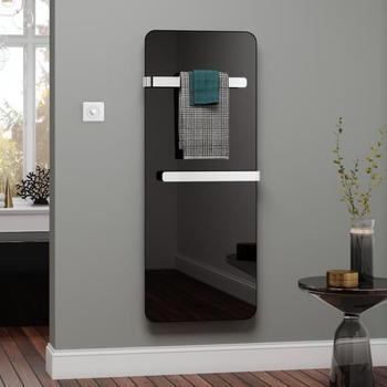 Kermi Elveo H: 150 B: 60 cm mit Elektro-Set WFS/Handtuchhalte schwarz
