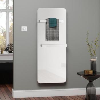 Kermi Elveo H: 150 B: 60 cm mit Elektro-Set WFS/Handtuchhalter weiß/aluminium
