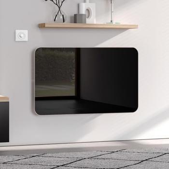 Kermi Elveo H: 100 B: 60 cm mit Elektro-Set WKS schwarz/aluminium