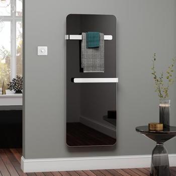 Kermi Elveo H: 150 B: 60 cm mit Elektro-Set WKS/Handtuchhalter schwarz/aluminium