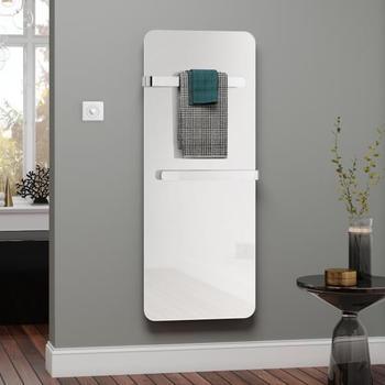 Kermi Elveo H: 150 B: 60 cm mit Elektro-Set WKS/Handtuchhalter weiß