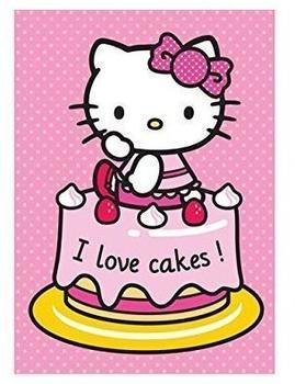Hello Kitty Kinder-Teppich, Hello Kitty Lizenz Teppich »Hello Kitty - Cake«, getuftet rosa, 95x133 cm