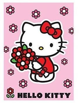 Hello Kitty Kinderteppich Hello Kitty Red flower 102239