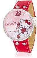 HELLO KITTY Mädchen-Armbanduhr Yowara Red Analog Quarz Kunstleder HK9004-568