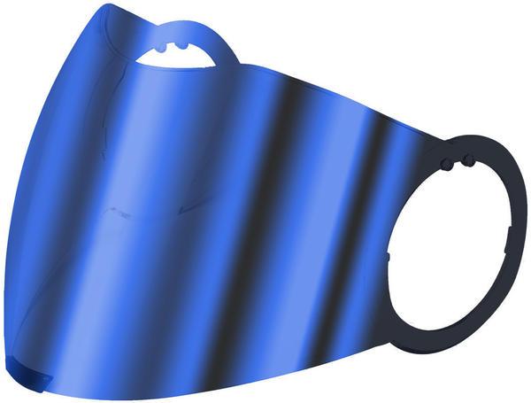 AGV Visier City 18-1 blau verspiegelt (XS-S)