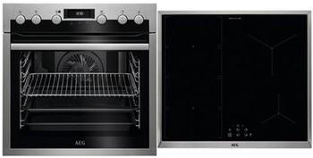 AEG HX5346MM51 Zonen-Induktionskochfeld Elektrischer Ofen Kochgeräte-Set