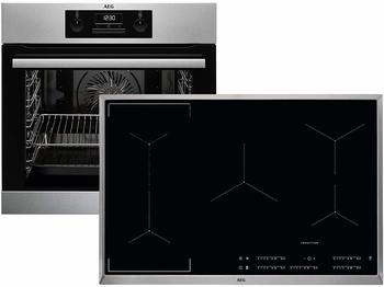 AEG BEB337-1 Geräte-Set mit Induktionskochfeld edelstahl/cleansteel + edelstahlA