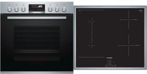 Bosch HEH579CS6 + NVS645CB5E Kochgeräte-Set Kombi Elektrischer Ofen