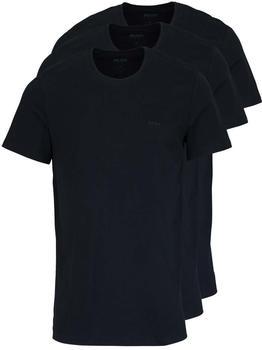 Hugo Boss Regular Fit T-Shirt 3er-Pack black (50325388/001)