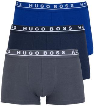 Hugo Boss Boxershorts 3er-Pack mittelblau/dunkelblau/grey (50325403/487)