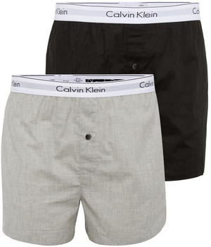 Calvin Klein 2er-Pack Slim Fit Boxershorts - Modern Cotton black/grey (000NB1396A-BHY)