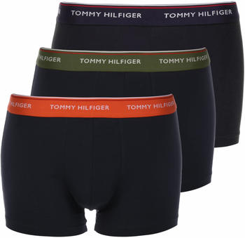 Tommy Hilfiger 3-Pack Organic Cotton Trunks grape leaf/fiesta/peacoat (UM0UM01642-0T4)