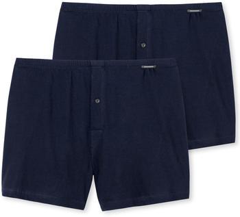 Schiesser 2 Pack Boxer Shorts (174002) dark blue