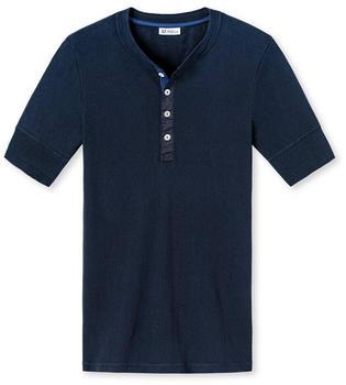 Schiesser Shirt Kurzarm Revival Karl-Heinz (160095) dunkelblau