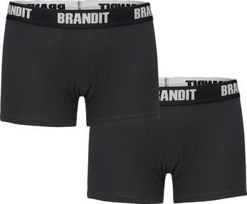 Brandit Boxer Shorts Logo 2er Pack black/black