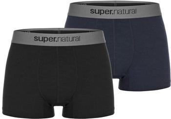 Super Natural Boxer Base Double Pack black