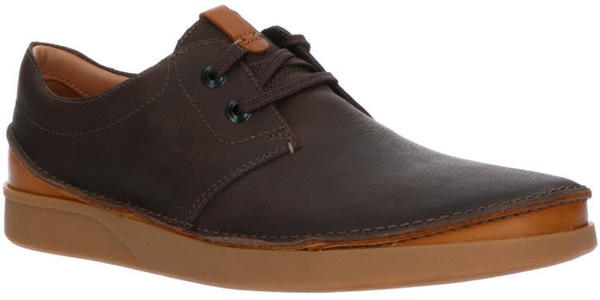 Clarks Oakland Lace dark brown leather