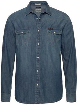 Wrangler Classic Western Hemd mid indigo