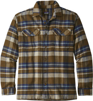 Patagonia Men's Long-Sleeved Fjord Flannel Shirt basin sediment