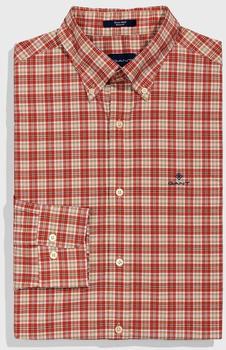 GANT Regular Fit Tech Prep Broadcloth Plaid Shirt blood orange (3017430-818)