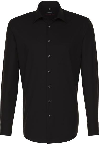 Seidensticker Bügelfreies Popeline Business Hemd schwarz (01.001000)