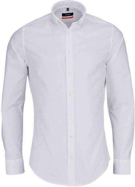 Seidensticker Bügelleichtes Oxford Business Hemd in Slim mit Button-Down-Kragen weiß (01.660982)