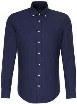 Seidensticker Bügelleichtes Oxford Business Hemd in Slim mit Button-Down-Kragen dunkelblau (01.660982)