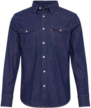 Levi's Barstow Western Standard Shirt (85744) red cast rinse marbled