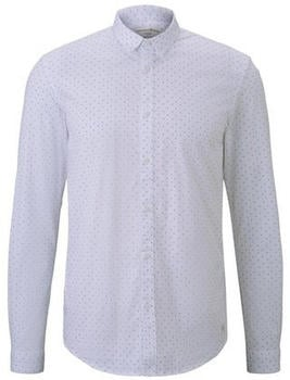Tom Tailor Denim Longsleeve white small triangle print (1016214)