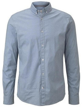 Tom Tailor mit abgerundetem Saum light blue geometric design