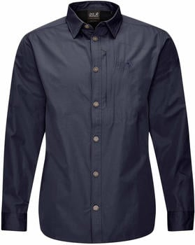 Jack Wolfskin Lakeside Roll-Up Shirt Men night blue (1402822)