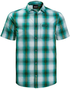 Jack Wolfskin Hot Chili Shirt Men emerald green checks