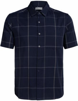 Icebreaker Men's Cool-Lite Compass Short Sleeve Shirt midnight navy/monsoon