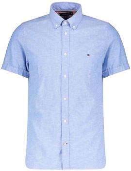 Tommy Hilfiger Short Sleeve LInen Cotton Shirt blue ink (MW0MW12777)