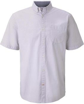 Tom Tailor Hemd (1020103) white base blue minimal design