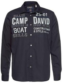 Camp David Langarmhemd (CCU-1955-5345) vintage navy
