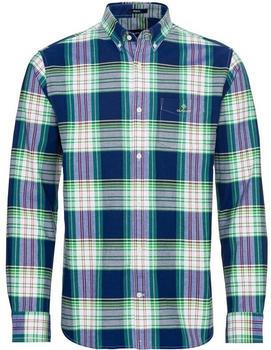 GANT Regular Fit Brushed Bright Plaid Oxford Shirt fern green (3010470-367)