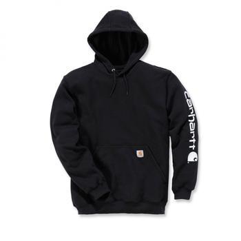 Carhartt Midweight Hooded Logo Sweatshirt black (K288)