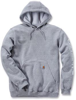 Carhartt Midweight Hooded Logo Sweatshirt heather grey (K288)