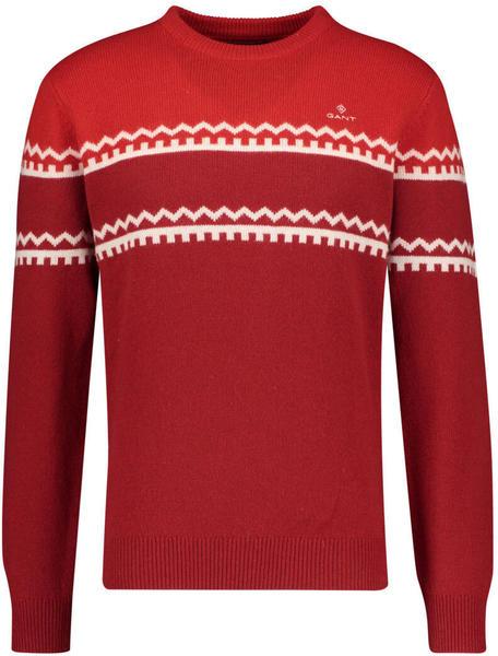 GANT Holiday Stripe Crew Sweater red (8010033)