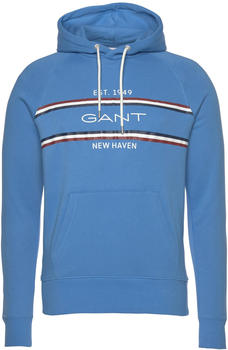 GANT Striped Hoodie pacific blue (2007015)